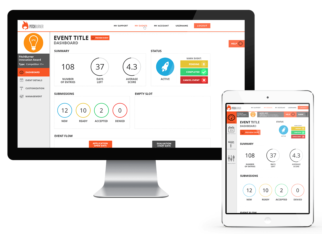 Pitchburner Dashboard