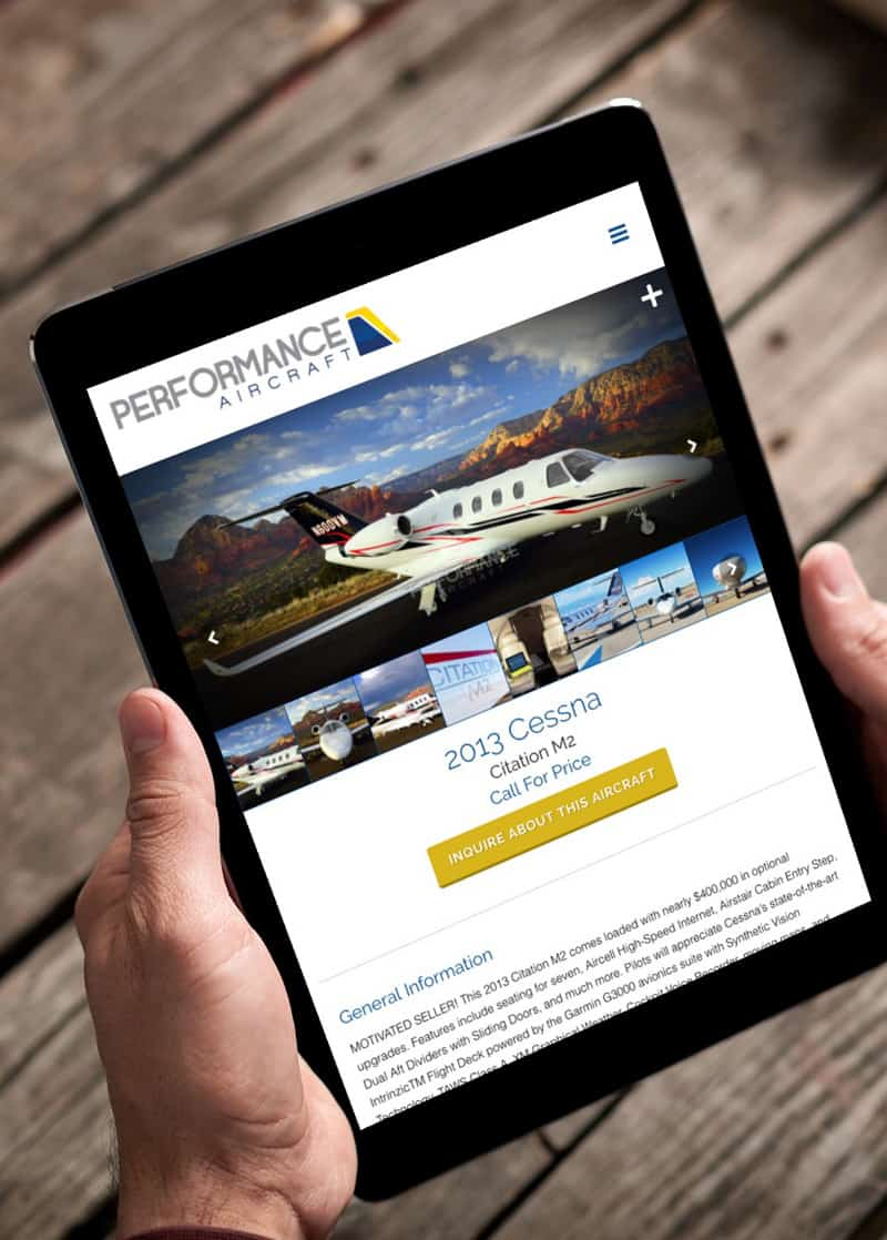Performance Aircraft Tablet
